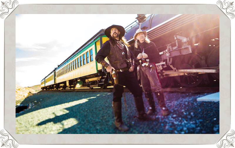 V&T Railway Virginia city to Gold hill Cast Bandits