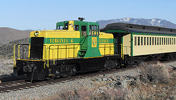 V&T Railway Carson City to Virginia City Diesel Train
