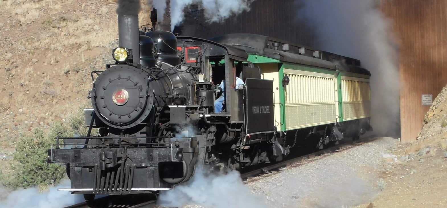 V&T Railway Virginia city to Gold hill Steam Train