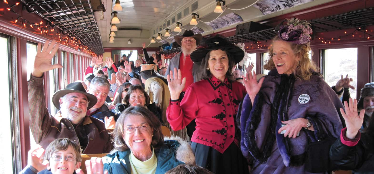 V&T Railway Virginia city to Gold hill Cast on board