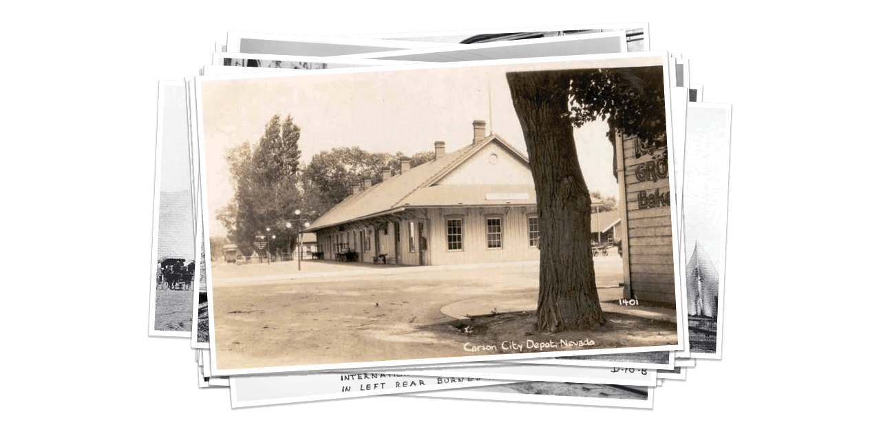 Historical Photo of Carson City Depot
