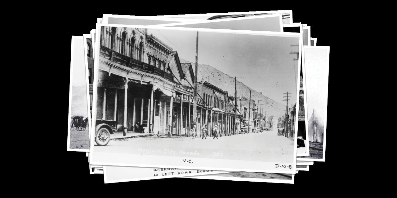 Historical Photo of Virginia City Street