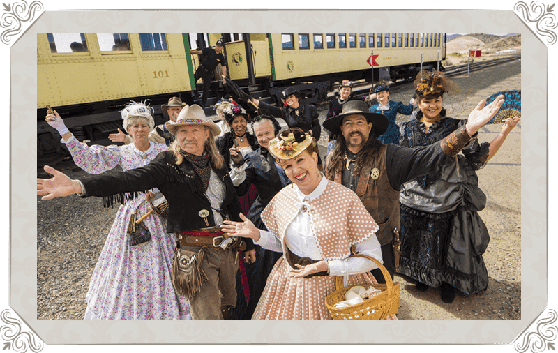 V&T Railway cast on opening day