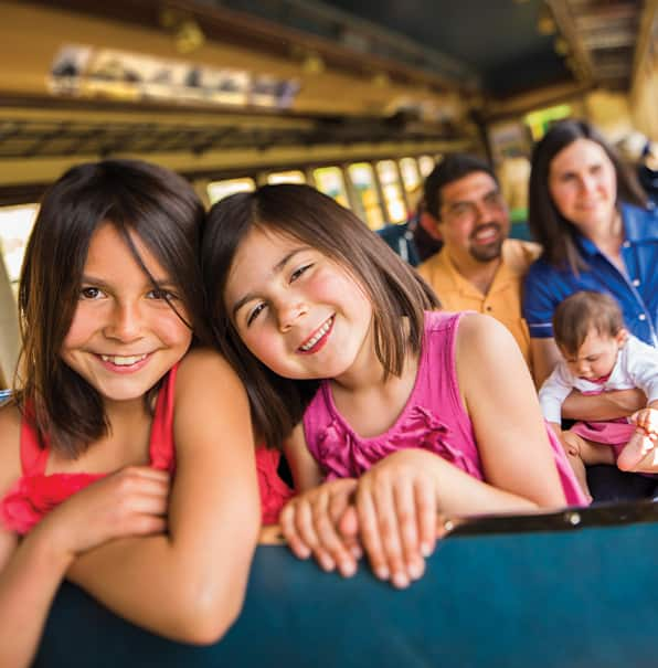 Young Girls and Family have Fun on V&T Railway