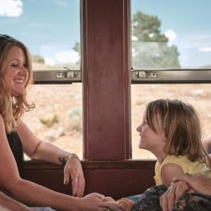 Mom & Daughter on V&T Railway